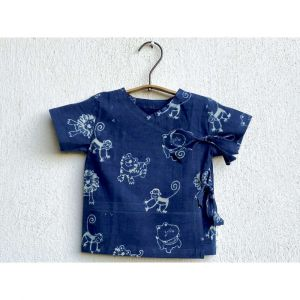 Zoo Print Angarakha Top With Matching Pyjama Pants