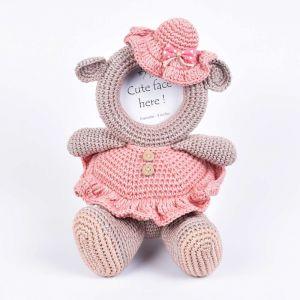 Pretty Girl Crochet Frame
