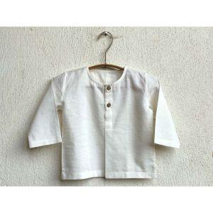 Essential White Unisex Kurta Top With Pyjama Bottoms