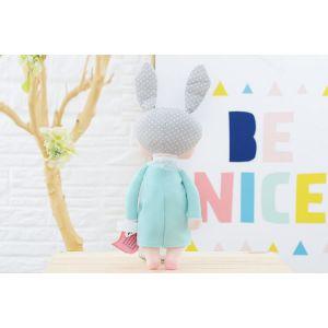 Sleeping Bunny Doll - Turquoise Blue