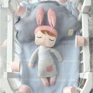 Sleeping Bunny Doll - Grey