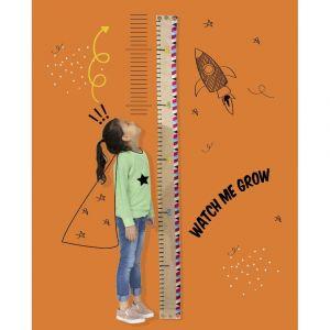 Watch Me Grow Height Chart - Burlap