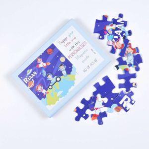 Magnetic Puzzles - Happy Astronauts