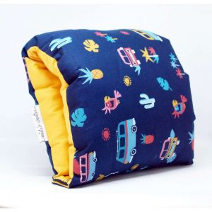 NAP: Nursing Arm Pillow – Mexican blue with yellow reverse
