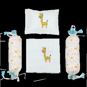 My Best Friend the Giraffe - Cot Bedding Set - Blue