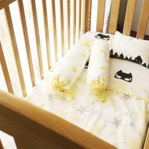 Superbaby flies over Town - Cot Bedding Set