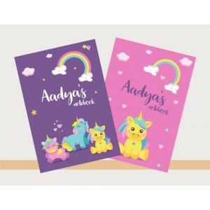 Personalised Notebooks - Baby Unicorn Theme