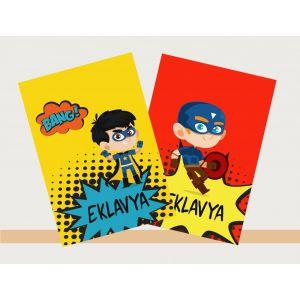Personalised Notebooks - Comic Superhero