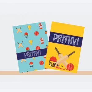 Personalised Notebooks - Cricket Theme