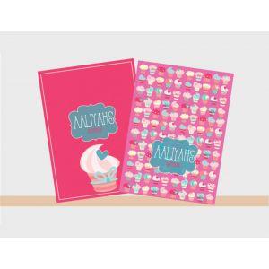 Personalised Notebooks - Cupcake Theme