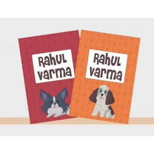 Personalised Notebooks - Doggie Love Theme