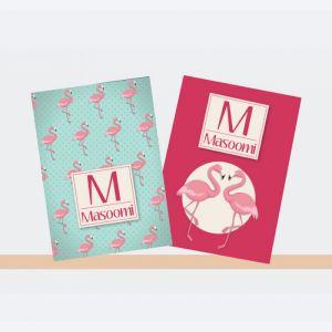 Personalised Notebooks - Flamingo Theme