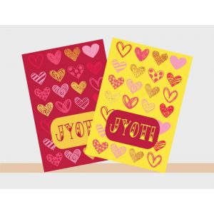 Personalised Notebooks - Hearts Theme