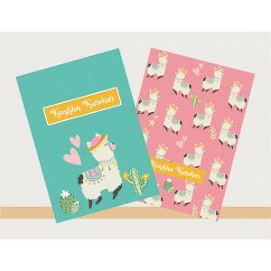 Personalised Notebook - Llama Theme