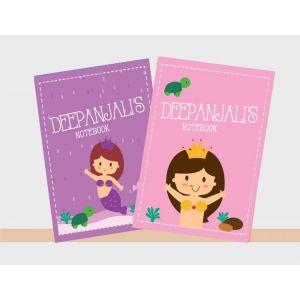 Personalised Notebooks - Mermaids