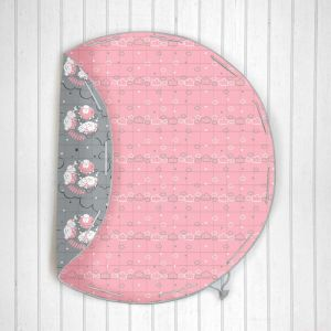 Counting Sheep Quilted Cotton Playmat cum Storage Bag - Pink