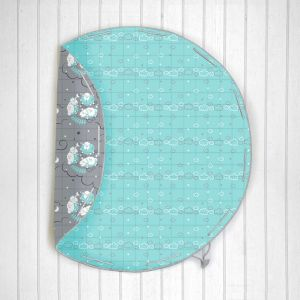 Counting Sheep Quilted Cotton Playmat cum Storage Bag - Blue