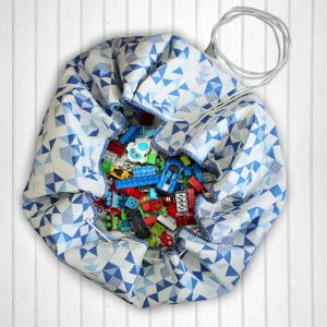 Busy Street Quilted Cotton Playmat cum Storage Bag