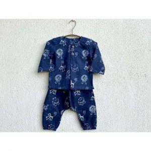 Zoo Print Kurta With Matching Pyjama